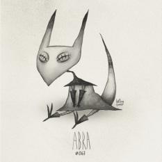 Fanart du Pokémon Abra avec le style de Tim Burton par HatBoy