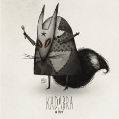 Fanart du Pokémon Kadabra avec le style de Tim Burton par HatBoy