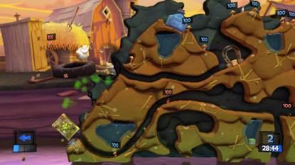Une partie dans Worms Revolution Collection sur Xbox 360