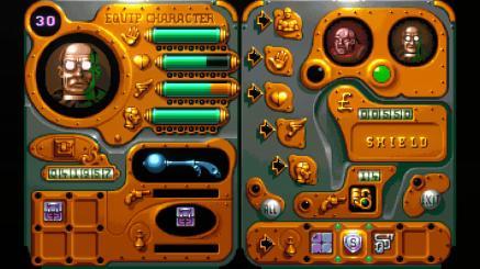 Ecran de modification du personnage dans The Chaos Engine