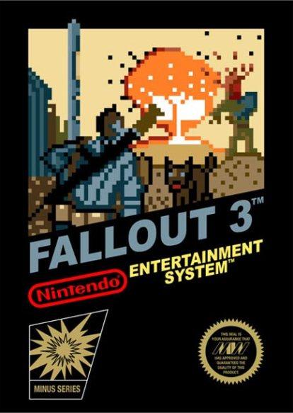 Jaquette de Fallout 3 style 8 bits sur Nintendo NES