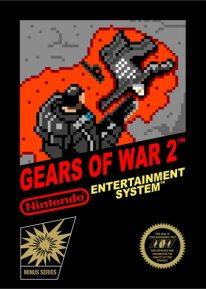 Jaquette de Gears of War 2 style 8 bits sur Nintendo NES