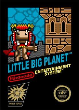 Jaquette de Little Big Planet style 8 bits sur Nintendo NES