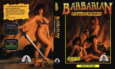 jaquette sexy du jeu video barbarian