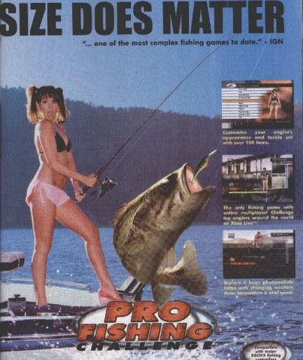 pub jeu vidéo de peche fishing challenge avec femme en bikini