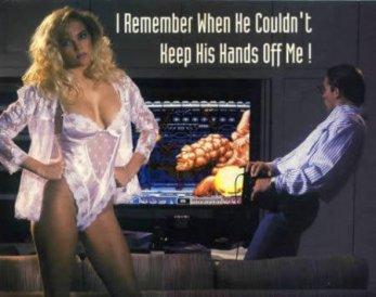 publicité sexy avec femme en lingerie pour sega megadrive