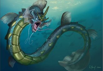 peinture réaliste du pokemon leviator par Simon Gangl