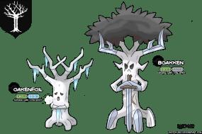 arbre maison forrester game of thrones en version pokémon