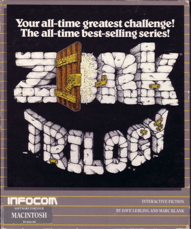 Box front of the Mac version of the Zork Trilogy