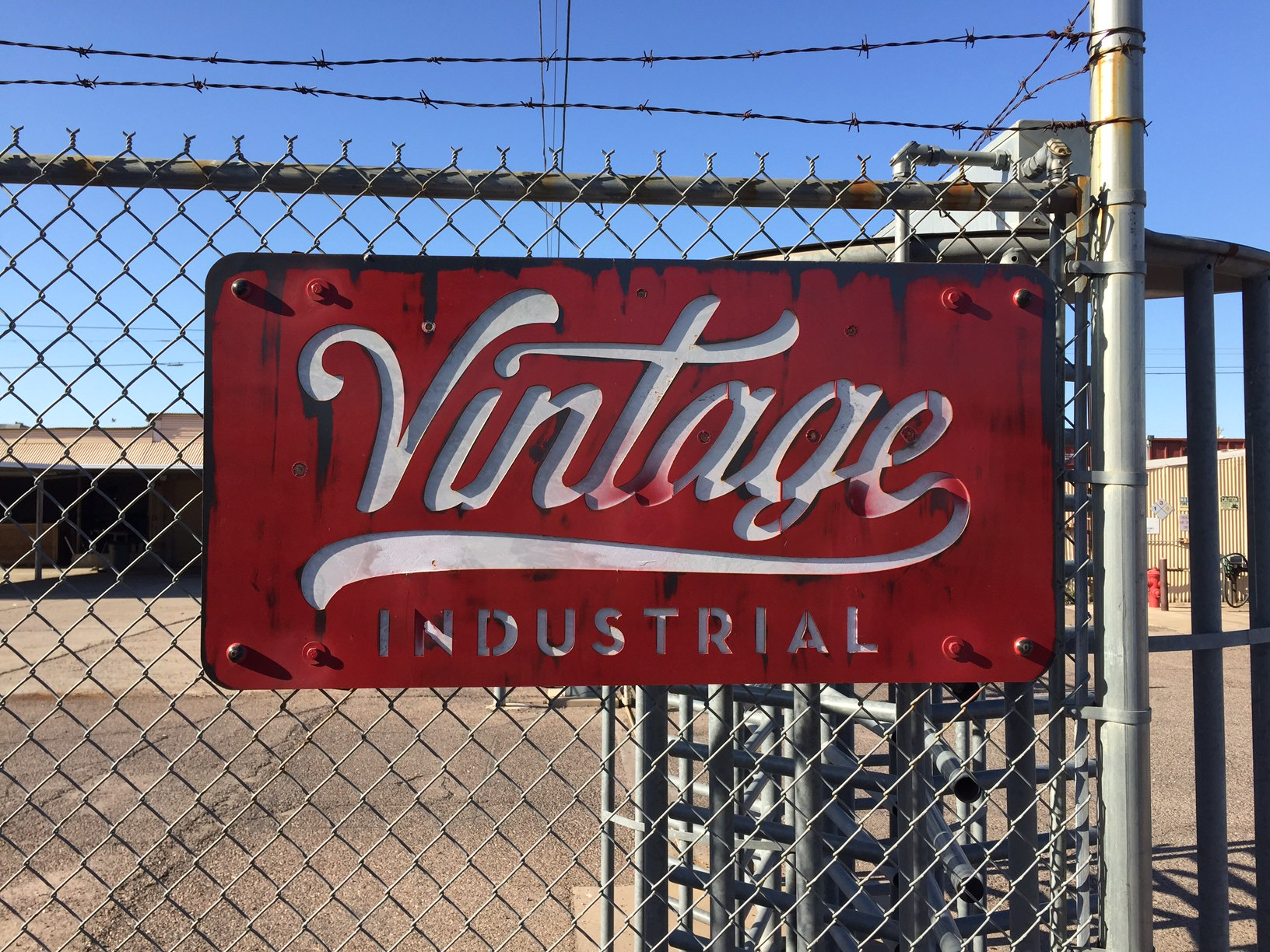 Custom Vintage Industrial Sign Vintage Industrial Furniture