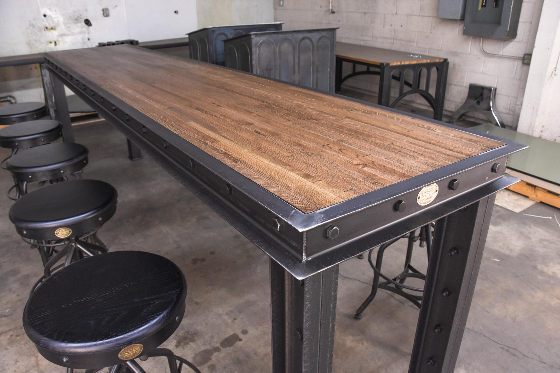 Firehouse Bar Table Vintage Industrial Furniture