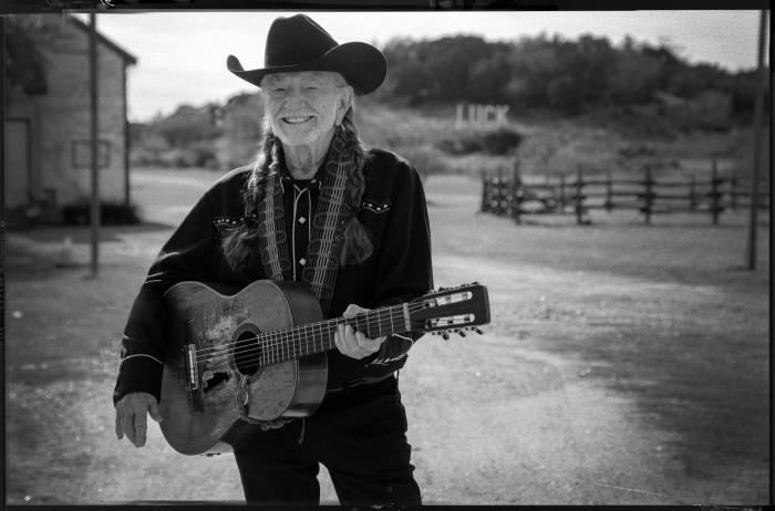 willie nelson guitar black and white