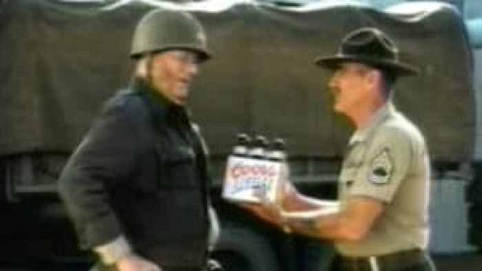 With digital editing, it appeared as though R. Lee Ermey and John Wayne worked together to celebrate Coors Light