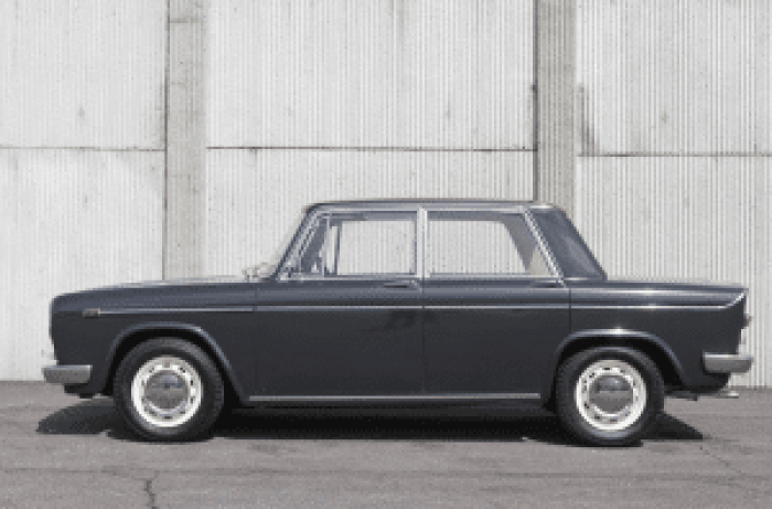 This particular 1968 Lancia Fulvia Berlina 2c became a famous car in a series about a famous couple