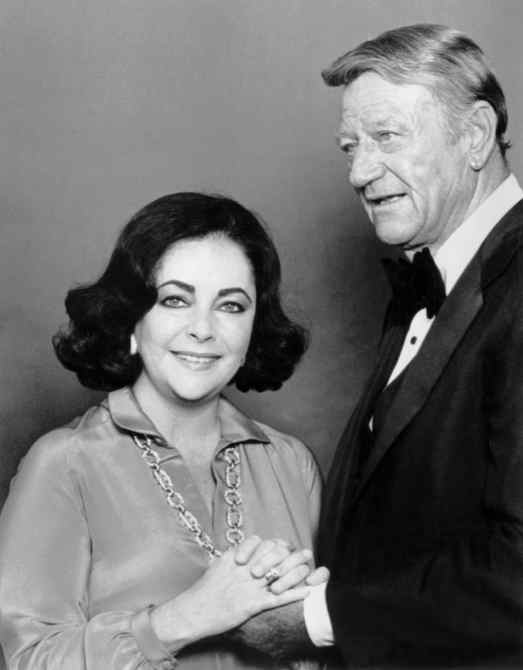 GENERAL ELECTRIC'S ALL-STAR ANNIVERSARY, from left, Elizabeth Taylor, John Wayne, aired September 29, 1978