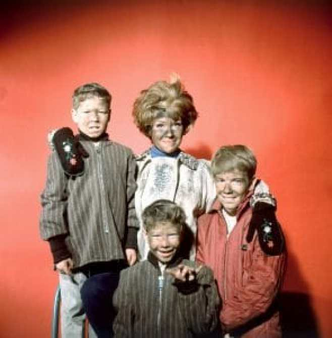 Kim Tyler, far right, in Please Don't Eat the Daisies