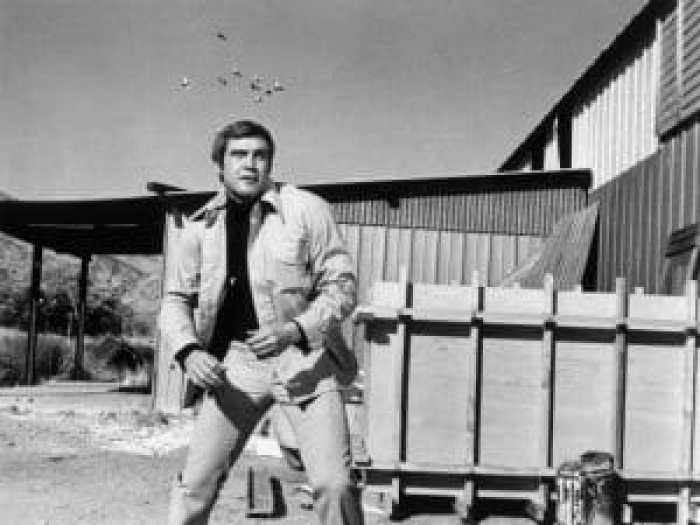 Lee Majors as Steve Austin, a man barely alive before OSI fixed him up