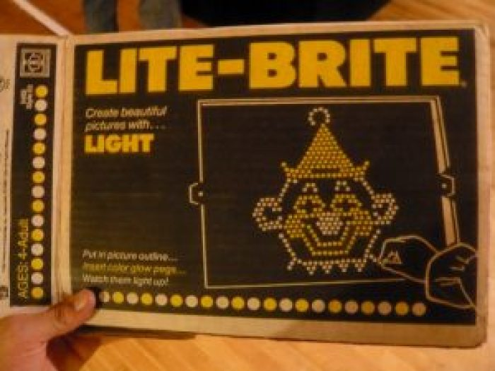 DId you ever have a Lite-Brite?