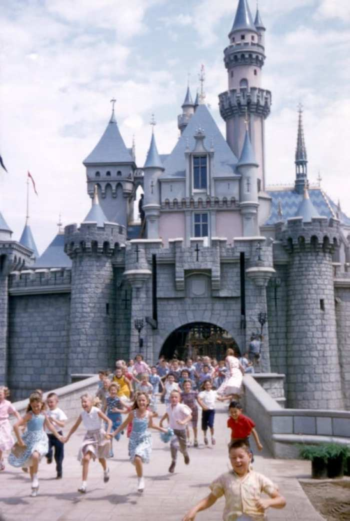 sleeping beauty castle in 1955