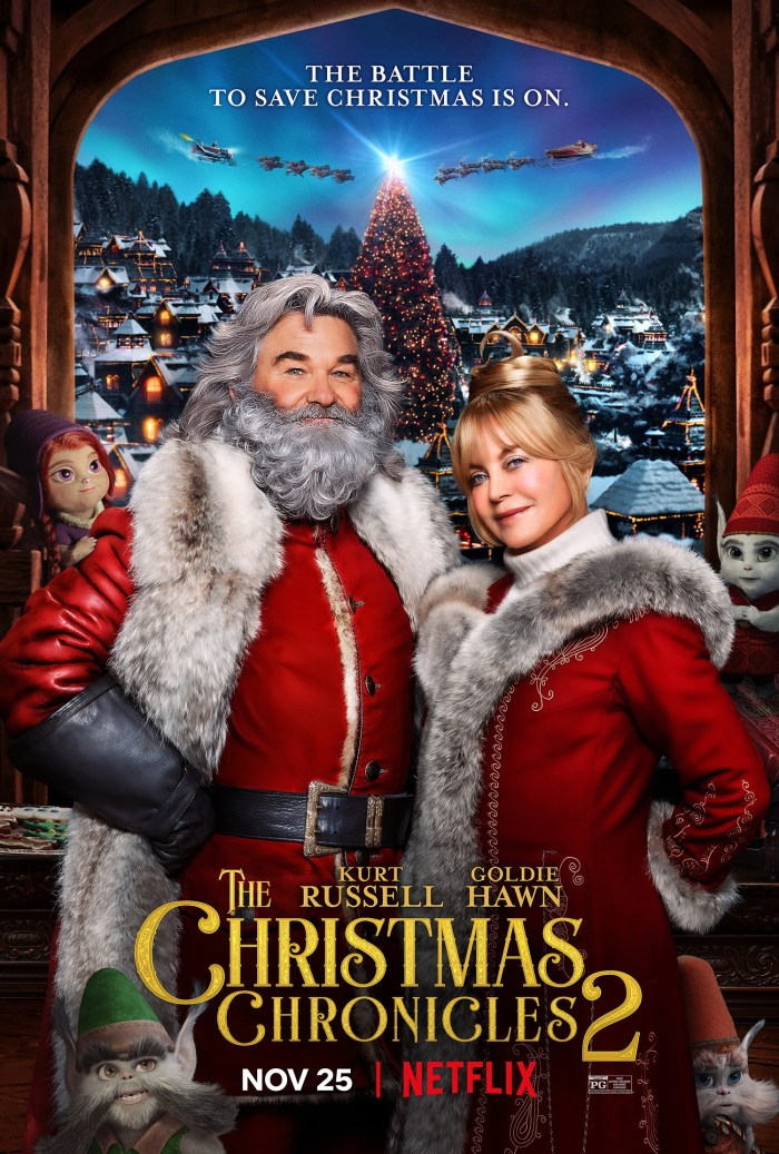 'THE CHRISTMAS CHRONICLES 2,' US poster Kurt Russell, Goldie Hawn