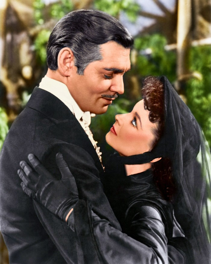 Clark Gable and Vivien Leigh gone with the wind