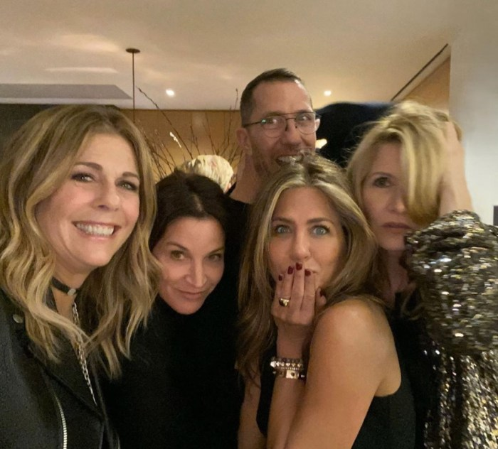 jennifer aniston holiday party famous friends