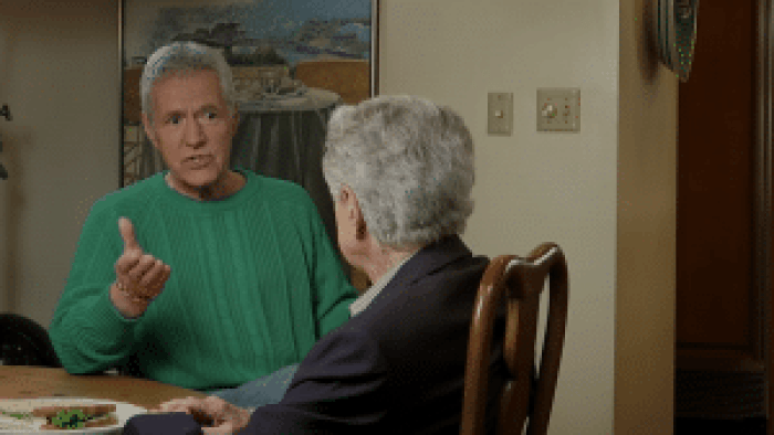 Trebek asked Philbin to discuss his career and the cultural impact of game shows