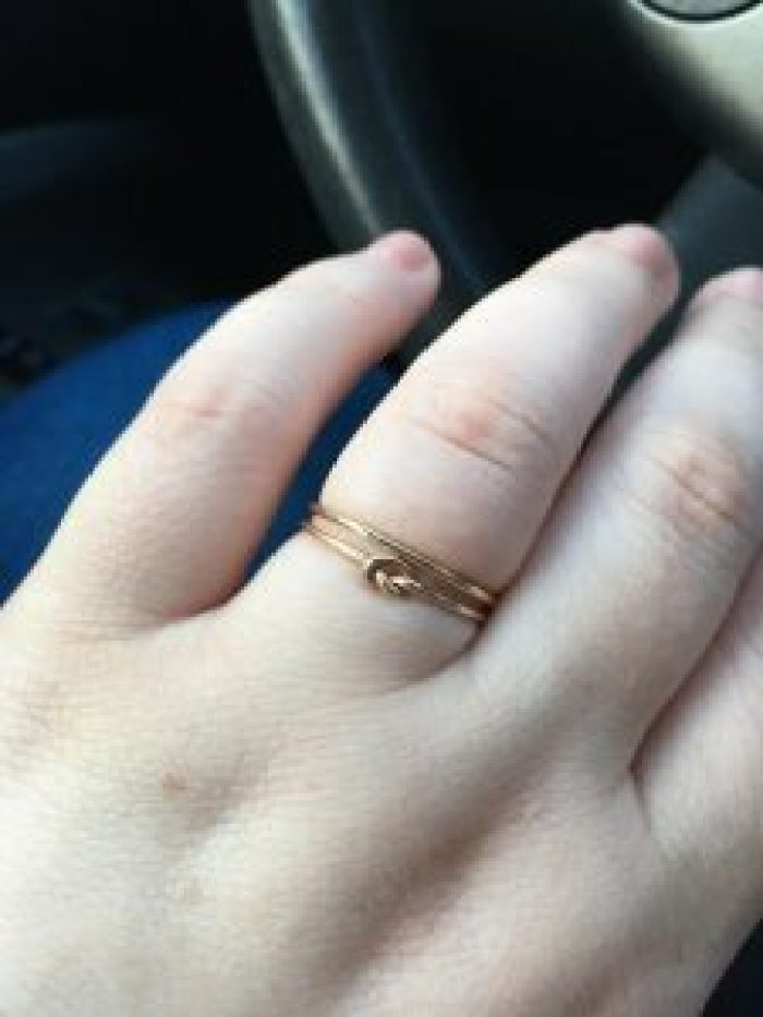 Engagement rings can be small and still symbolize a lot