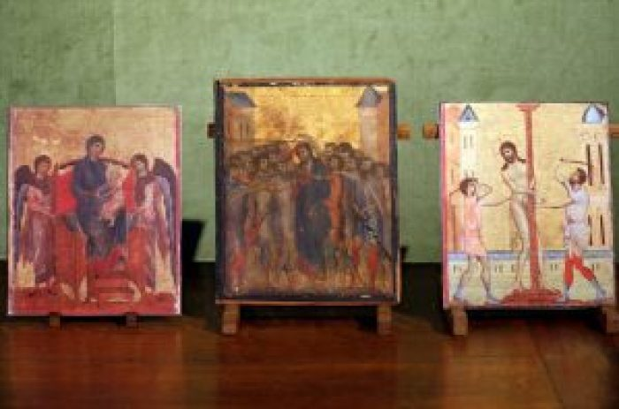 The trio of Cimabue paintings may be reunited