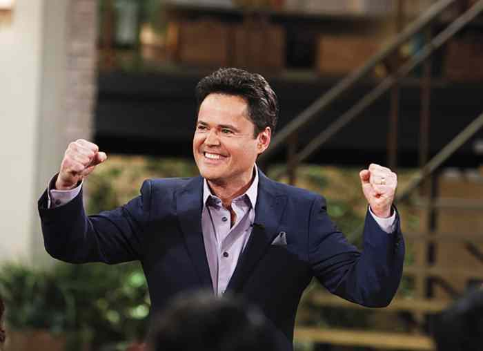 THE TALK, guest co-host Donny Osmond