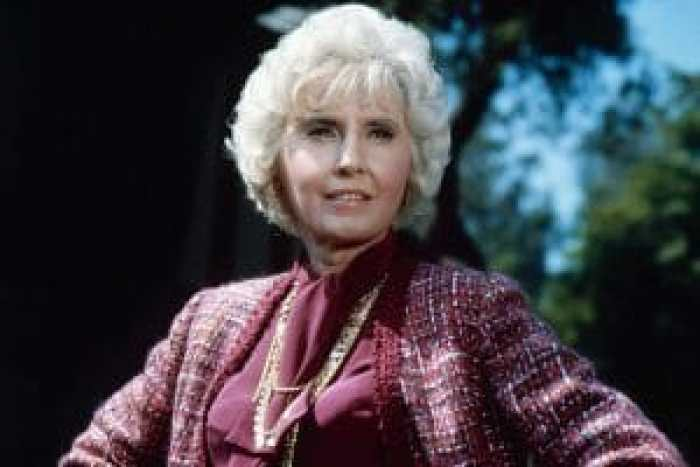 Stanwyck in her last role, shortly before her passing