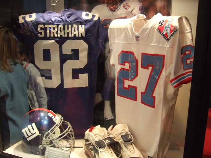 Michael Strahan's No.92 jersey