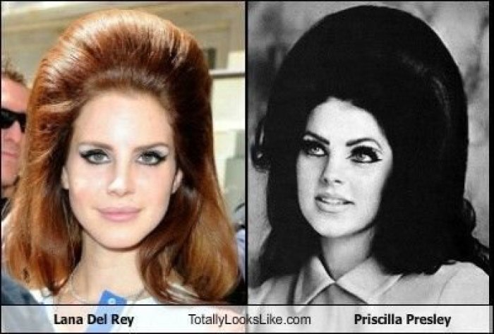 Lana Del Rey and Priscilla Presley look alike