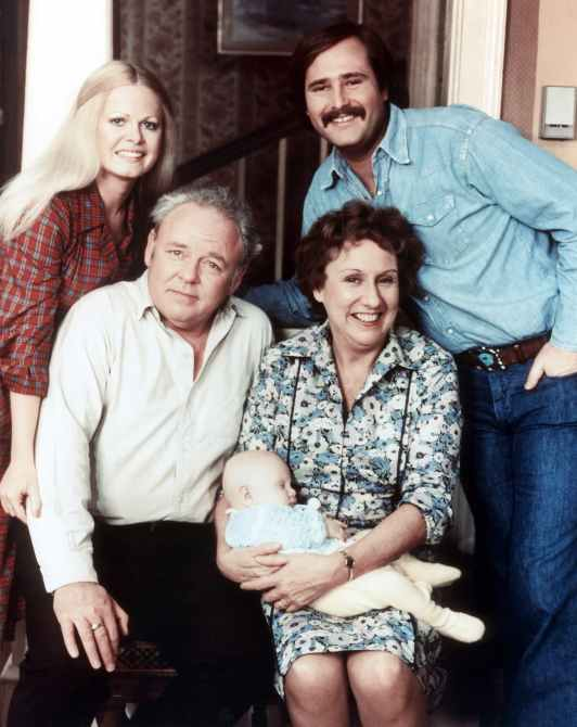 ALL IN THE FAMILY, Sally Struthers, Carroll O'Connor, Jean Stapleton, Rob Reiner, 1971-1983