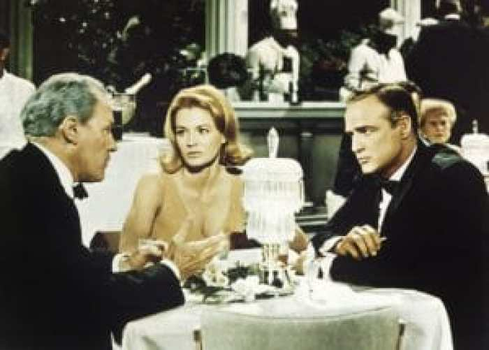 THE CHASE, from left: E.G. Marshall, Angie Dickinson, Marlon Brando