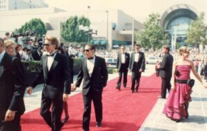 After the show, though, White enjoys the red carpet immensely