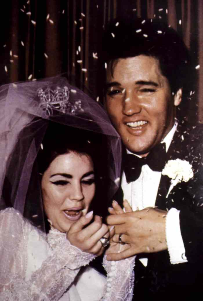 Newlyweds PRISCILLA PRESLEY and ELVIS PRESLEY