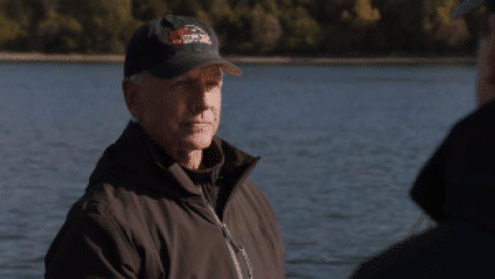 Mark Harmon during his last confirmed appearance as Gibbs