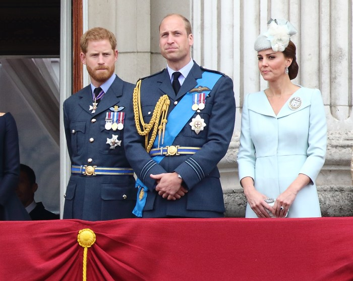 Prince Harry with Prince William and Kate Middleton