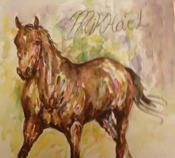 mikhael horse painting marie osmond