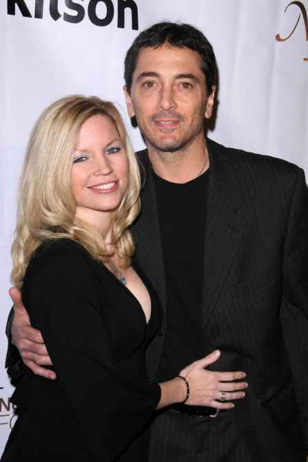 Renee Sloan and Scott Baio at the Stand Up To Cancer Charity Merchandise Launch