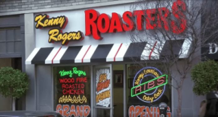 Kenny Rogers Roasters enjoys even more fame abroad than at home