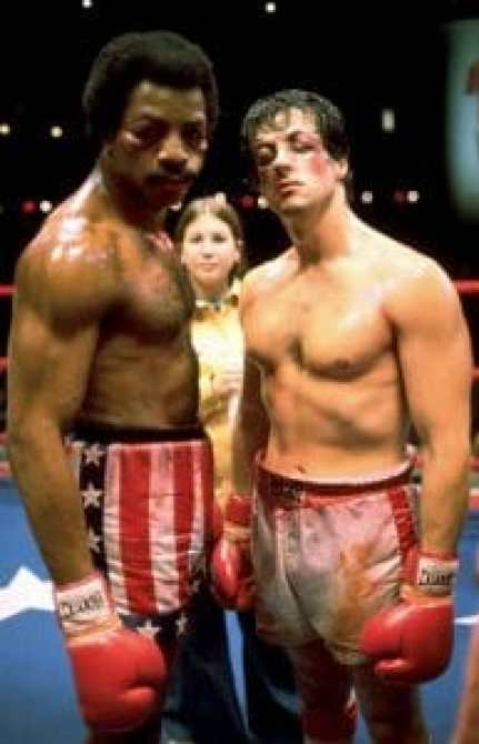 ROCKY, Carl Weathers, Sylvester Stallone