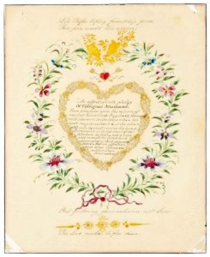 Until recently, this old romantic Valentine's Day card from 1818 sat in an album with all its tender sentiments waiting to be unearthed again / South West News Agency