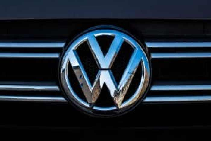 Gas cars will have the traditional VW emblem, while electric will have special, lighter-colored Voltswagen distinctions