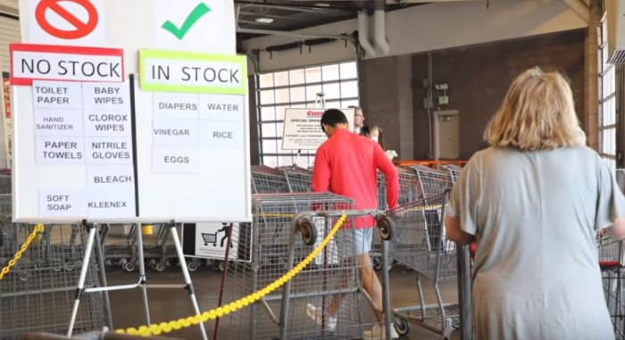 costco alerting customers what is in stock and out of stock