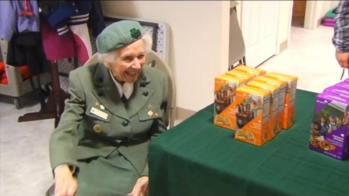 Ronnie Backenstoe is still a girl scout at 98 years old