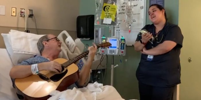 "chemo patient sings ""o holy night"" with nurse"