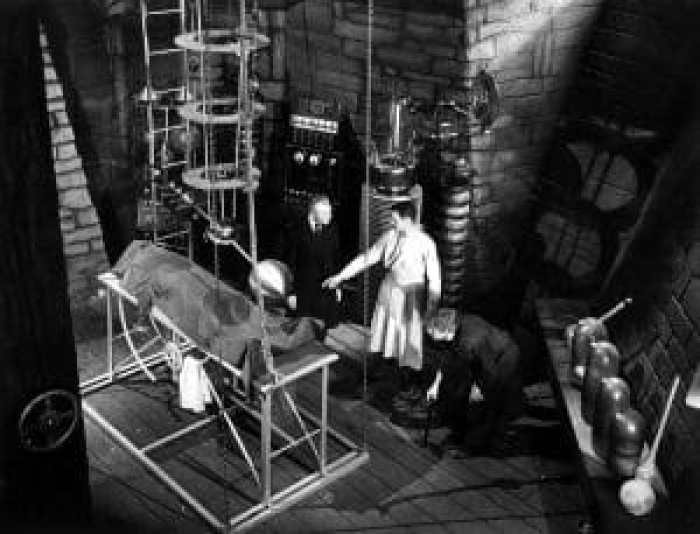 Much of Grandpa's lab should look familiar to horror movie fans