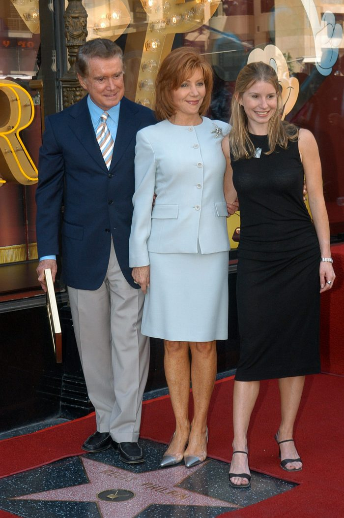 regis philbin wife joy and daughter at an event